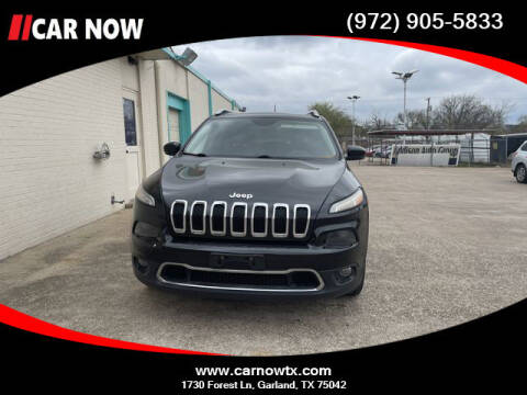 2015 Jeep Cherokee for sale at Car Now in Dallas TX