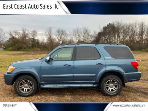2007 Toyota Sequoia for sale at East Coast Auto Sales llc in Virginia Beach VA