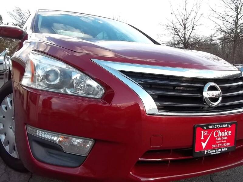 2013 Nissan Altima for sale at 1st Choice Auto Sales in Fairfax VA