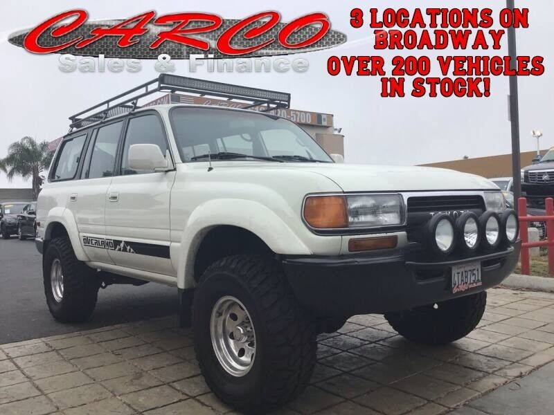 1992 Toyota Land Cruiser for sale at CARCO SALES & FINANCE in Chula Vista CA