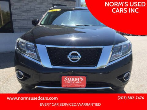 2016 Nissan Pathfinder for sale at NORM'S USED CARS INC in Wiscasset ME