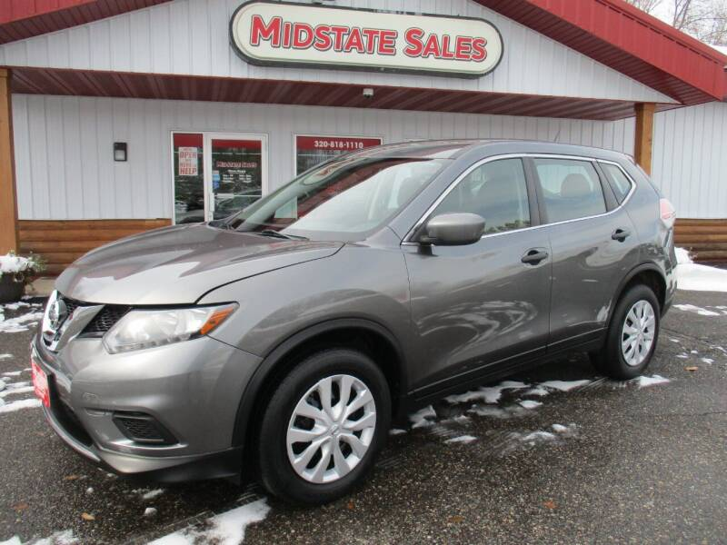 2016 Nissan Rogue for sale at Midstate Sales in Foley MN