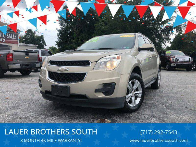 2010 Chevrolet Equinox for sale at LAUER BROTHERS SOUTH in York PA