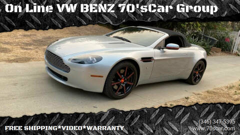 2008 Aston Martin V8 Vantage for sale at On Line VW BENZ 70'sCar Group in Warehouse CA