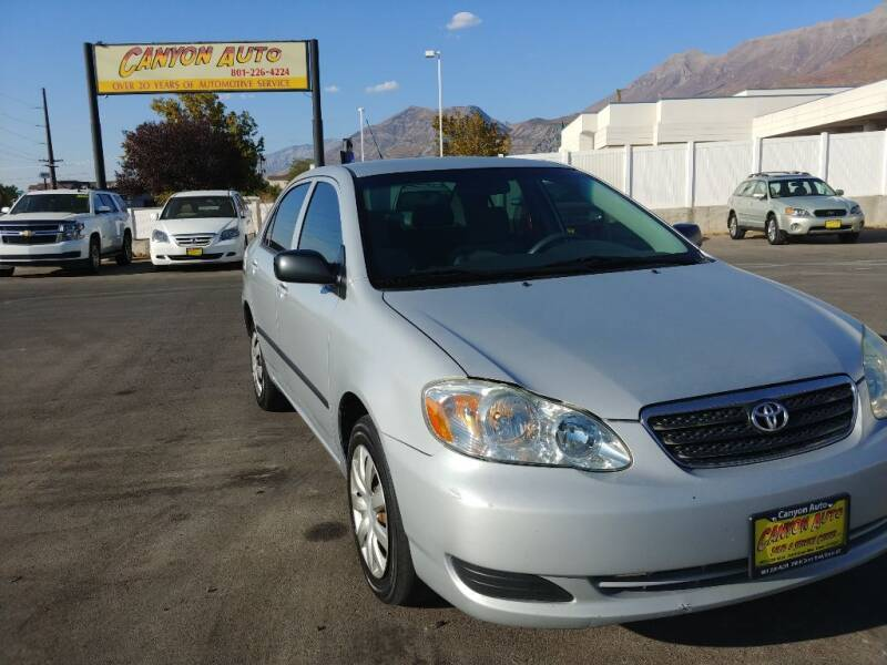 2007 Toyota Corolla for sale at Canyon Auto Sales in Orem UT