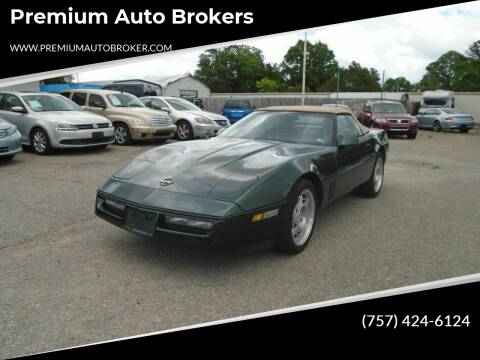 1990 Chevrolet Corvette for sale at Premium Auto Brokers in Virginia Beach VA