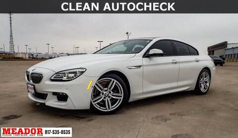 2016 BMW 6 Series for sale at Meador Dodge Chrysler Jeep RAM in Fort Worth TX