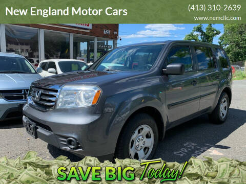2013 Honda Pilot for sale at New England Motor Cars in Springfield MA