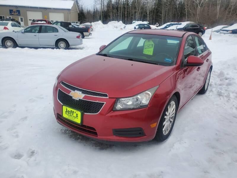 2012 Chevrolet Cruze for sale at Jeff's Sales & Service in Presque Isle ME