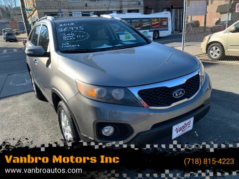 2012 Kia Sorento for sale at Vanbro Motors Inc in Staten Island NY