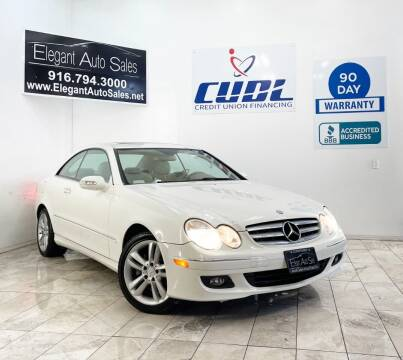 2007 Mercedes-Benz CLK for sale at Elegant Auto Sales in Rancho Cordova CA