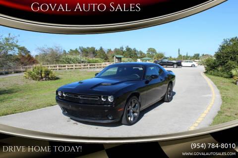 2016 Dodge Challenger for sale at Goval Auto Sales in Pompano Beach FL