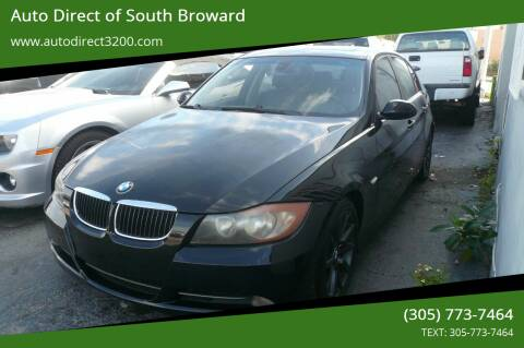 2007 BMW 3 Series for sale at Auto Direct of South Broward in Miramar FL