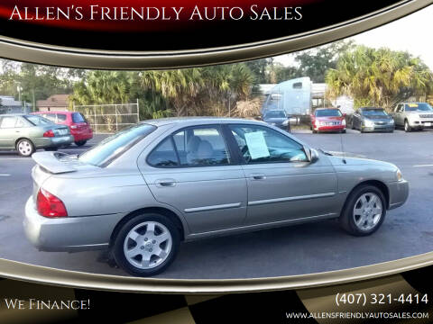 2006 Nissan Sentra for sale at Allen's Friendly Auto Sales in Sanford FL