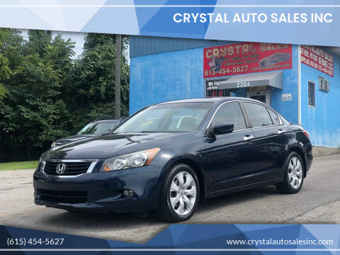 2010 Honda Accord for sale at Crystal Auto Sales Inc in Nashville TN