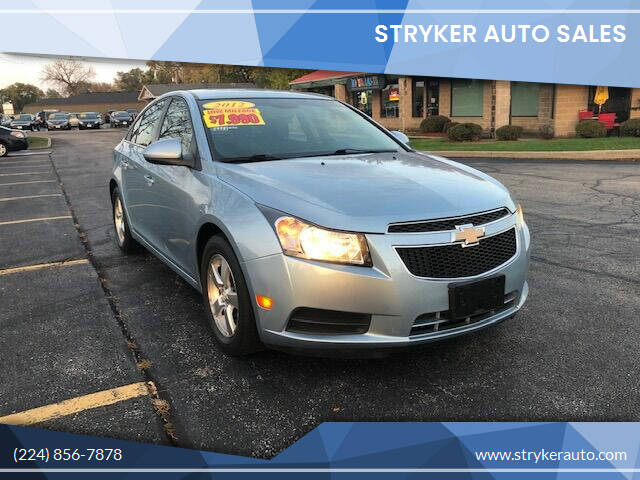 2012 Chevrolet Cruze for sale at Stryker Auto Sales in South Elgin IL