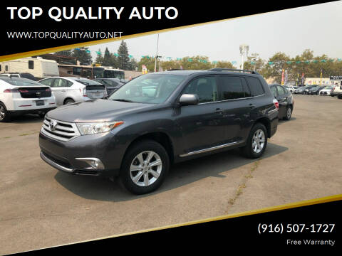 2012 Toyota Highlander for sale at TOP QUALITY AUTO in Rancho Cordova CA