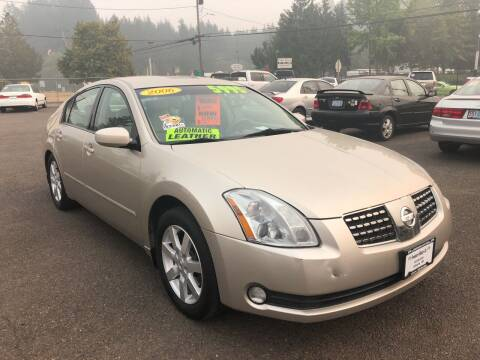 2006 Nissan Maxima for sale at Freeborn Motors in Lafayette, OR