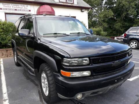 2005 Chevrolet Tahoe for sale at Sussex County Auto & Trailer Exchange -$700 drives in Wantage NJ