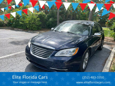 2013 Chrysler 200 for sale at Elite Florida Cars in Tavares FL
