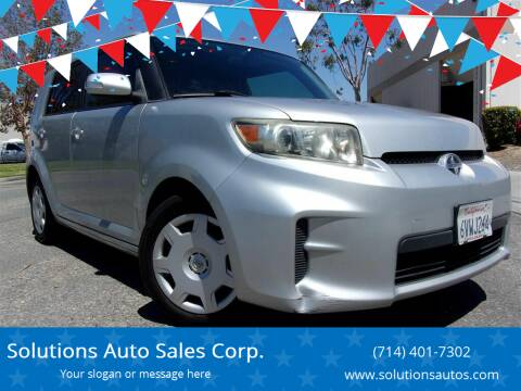 2012 Scion xB for sale at Solutions Auto Sales Corp. in Orange CA