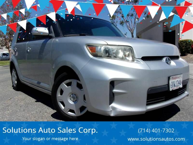 2012 Scion xB for sale at Solutions Auto Sales Corp. in Orange CA