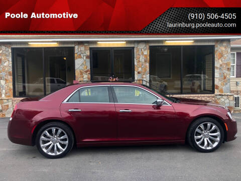 2019 Chrysler 300 for sale at Poole Automotive in Laurinburg NC