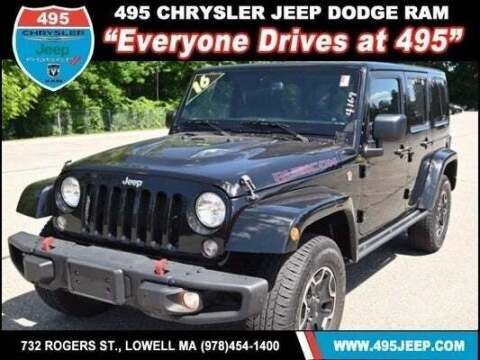 2016 Jeep Wrangler Unlimited for sale at 495 Chrysler Jeep Dodge Ram in Lowell MA