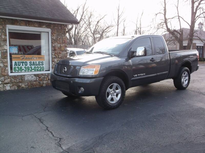 2008 Nissan Titan for sale at Fowler's Auto Sales in Pacific MO
