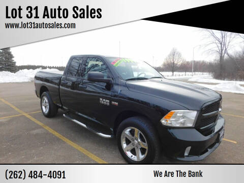 2013 RAM Ram Pickup 1500 for sale at Lot 31 Auto Sales in Kenosha WI