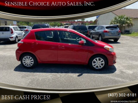 2013 Toyota Yaris for sale at Sensible Choice Auto Sales, Inc. in Longwood FL