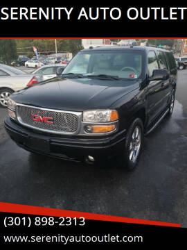 2005 GMC Yukon XL for sale at SERENITY AUTO OUTLET in Frederick MD