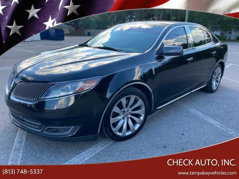 2014 Lincoln MKS for sale at CHECK AUTO, INC. in Tampa FL