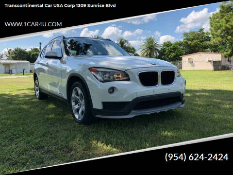 2015 BMW X1 for sale at Transcontinental Car in Fort Lauderdale FL