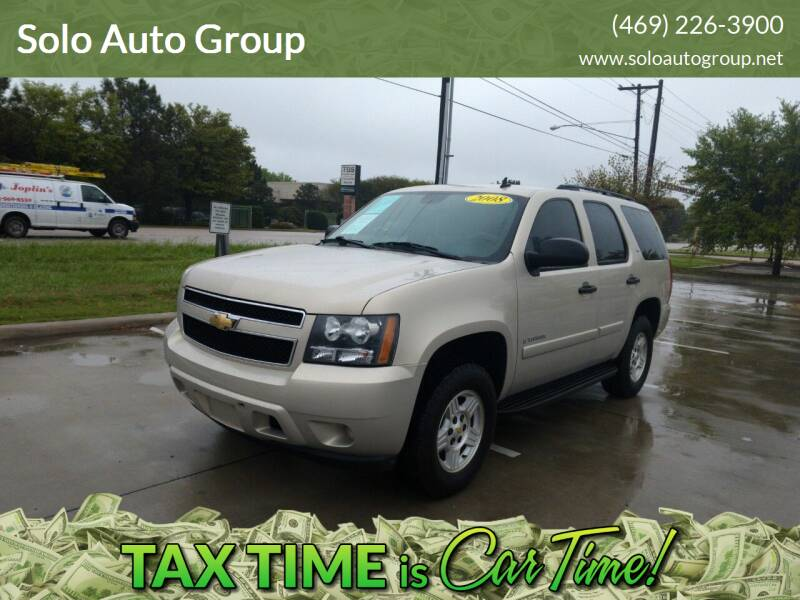 2008 Chevrolet Tahoe for sale at Solo Auto Group in Mckinney TX