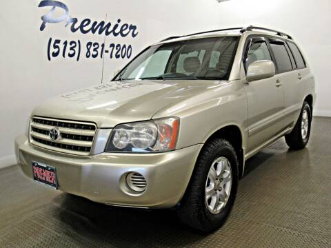 2003 Toyota Highlander for sale at Premier Automotive Group in Milford OH