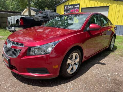 2012 Chevrolet Cruze for sale at M & J Motor Sports in New Caney TX