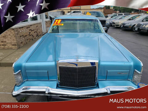1978 Lincoln Town Car for sale at MAUS MOTORS in Hazel Crest IL