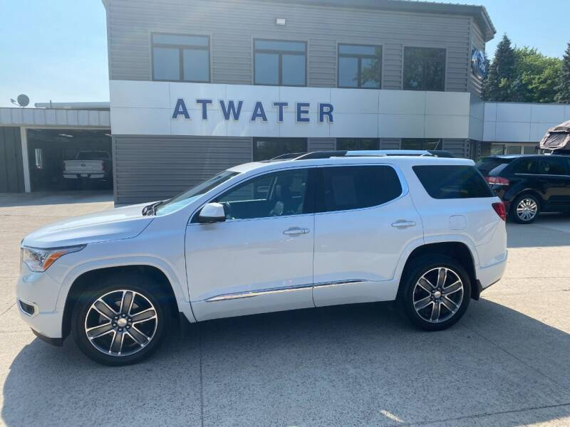 2019 GMC Acadia for sale at Atwater Ford Inc in Atwater MN