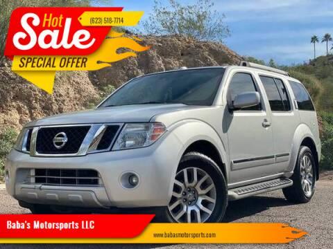 2010 Nissan Pathfinder for sale at Baba's Motorsports, LLC in Phoenix AZ