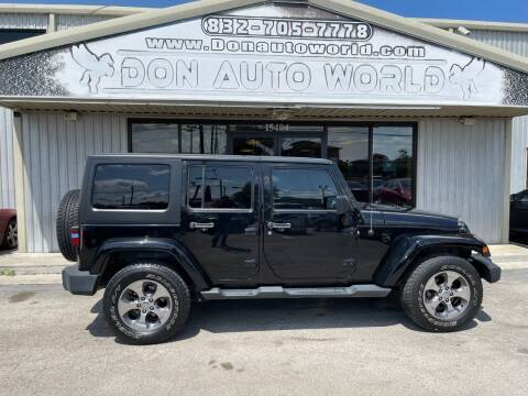 2012 Jeep Wrangler Unlimited for sale at Don Auto World in Houston TX