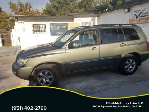 2005 Toyota Highlander for sale at Affordable Luxury Autos LLC in San Jacinto CA