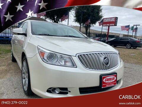 2012 Buick LaCrosse for sale at CARBLOK in Lewisville TX