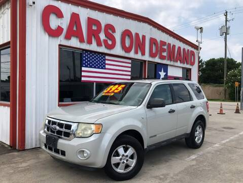 2008 Ford Escape for sale at Cars On Demand 2 in Pasadena TX