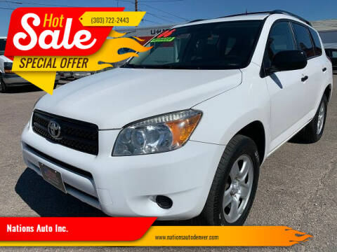 2006 Toyota RAV4 for sale at Nations Auto Inc. in Denver CO