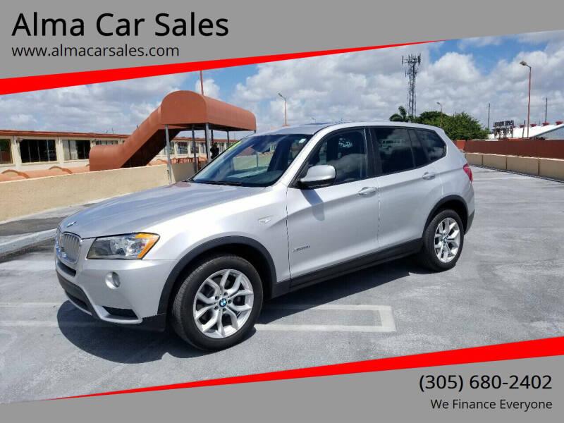2013 BMW X3 for sale at Alma Car Sales in Miami FL