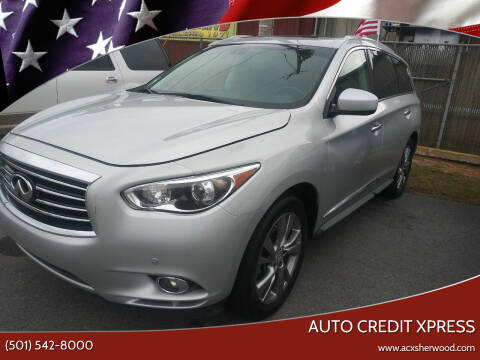2013 Infiniti JX35 for sale at Auto Credit Xpress in North Little Rock AR