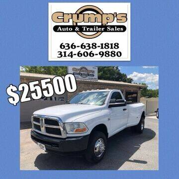 2011 RAM Ram Pickup 3500 for sale at CRUMP'S AUTO & TRAILER SALES in Crystal City MO