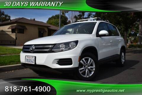 2016 Volkswagen Tiguan for sale at Prestige Auto Sports Inc in North Hollywood CA