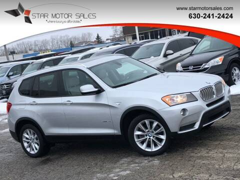 2014 BMW X3 for sale at Star Motor Sales in Downers Grove IL